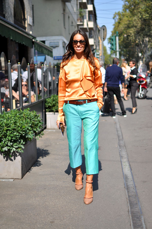 Viviana Volpicella orange and turquoise