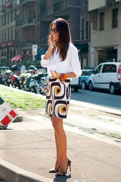 Viviana Volpicella graphic skirt