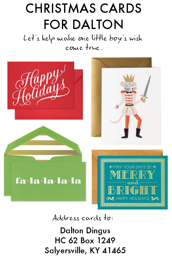 Christmas Cards for Dalton