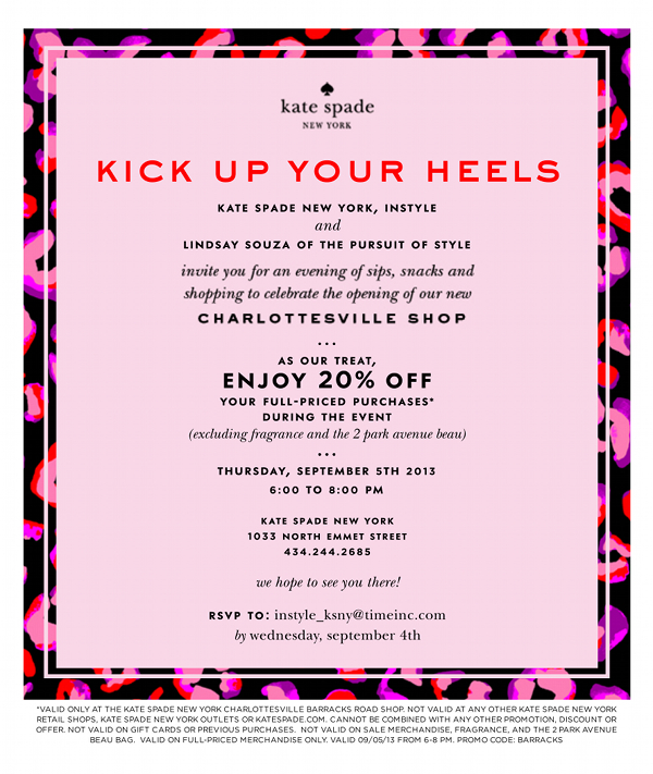 Kate Spade Charlottesville Opening | The Pursuit of Style