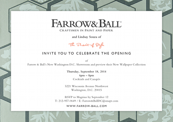 Washington, DC Showroom Invite