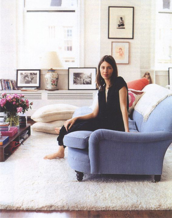 Sofia Coppola Blue Sofa