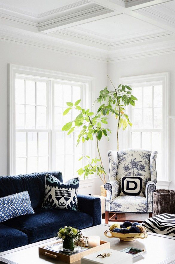 Zhush Navy Sofa | Domaine