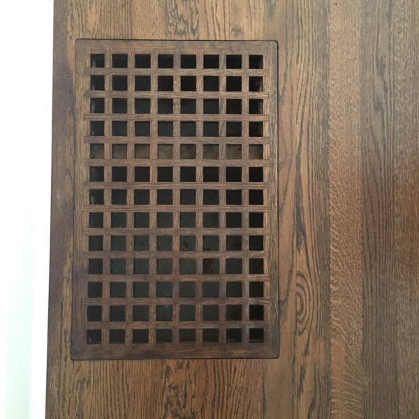 Custom Wood Floor Return Cover