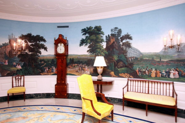 Inspired by zuber panoramic wallpaper the pursuit of style for Mural room white house
