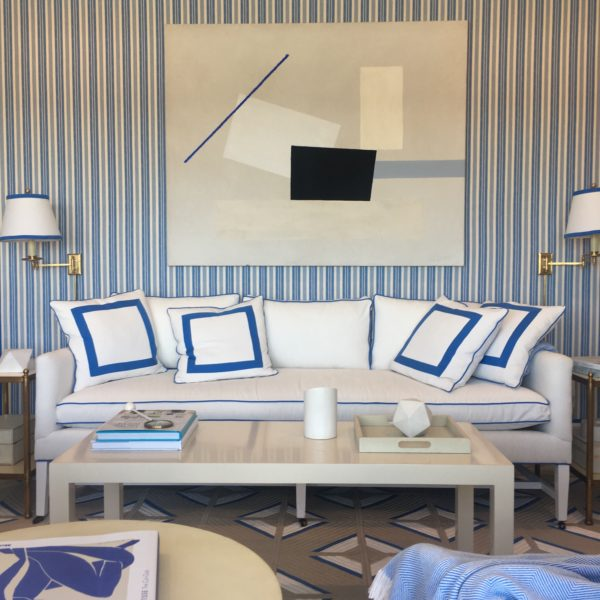 More Upholstered Walls And A Fabulous Abstract By Catherine Jones.